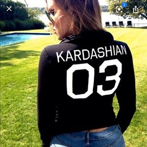 Kardashian Kollection zip-up jacket